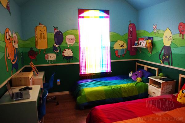 Que horas são? É hora de conhecer um quarto super legal baseado na série Adventure Time!