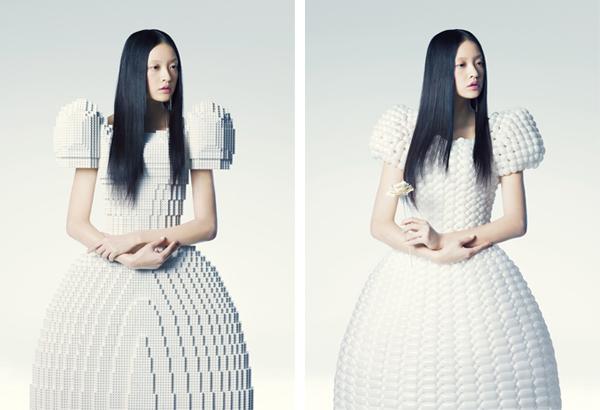 Designer cria vestido feito inteiramente com peças de Lego