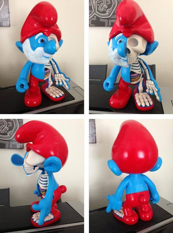 Com vocês, a anatomia do Papai Smurf!