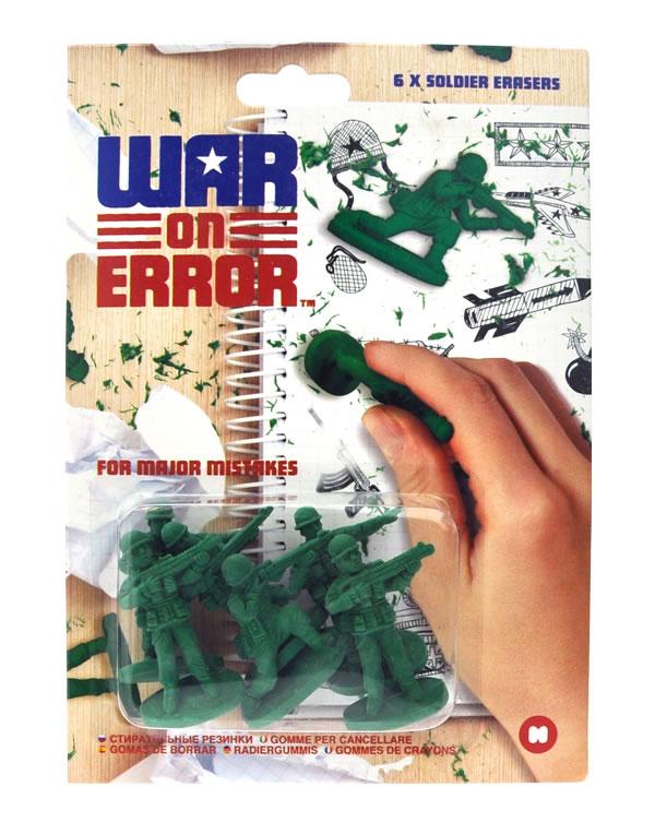 Borrachas Army Men: Um exército de soldadinhos verdes para apagar os seus erros!