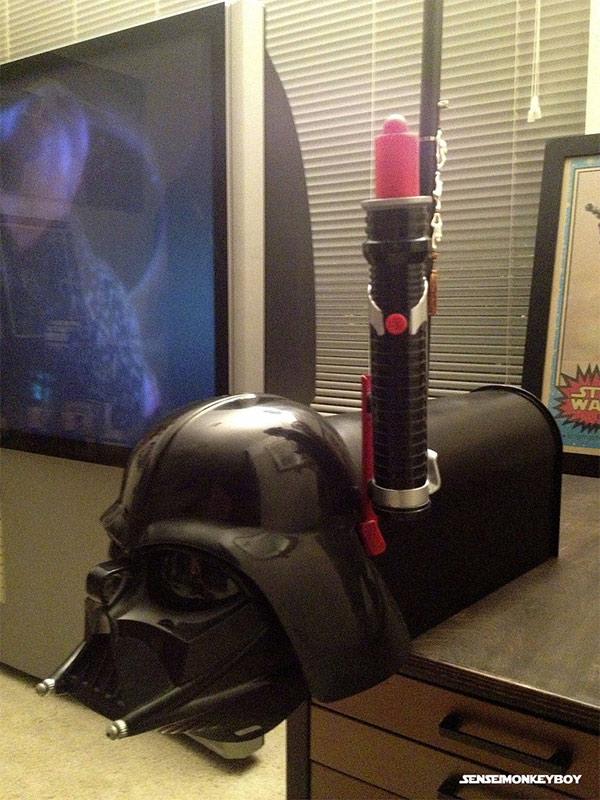 Caixa de correio Darth Vader: O lado negro da correspondência