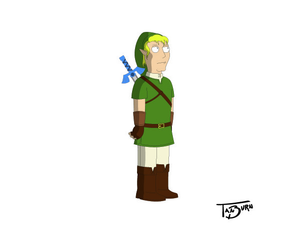 Mashup transforma o Link de The Legend Of Zelda em outros personagens de desenhos animados