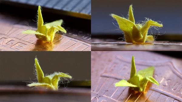 Homem cria origami incrivelmente minúsculo que mede apenas 3 milímetros de comprimento