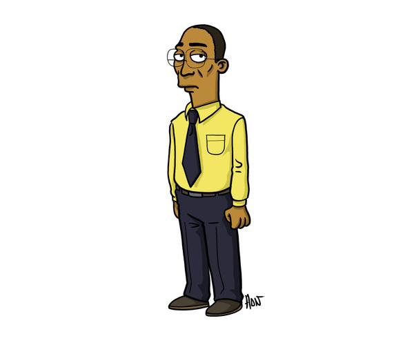 12 Personagens da série Breaking Bad estilo Simpsons