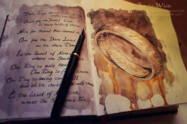 Você precisa ver isso do dia: Pinturas incríveis baseadas na série O Senhor dos Anéis
