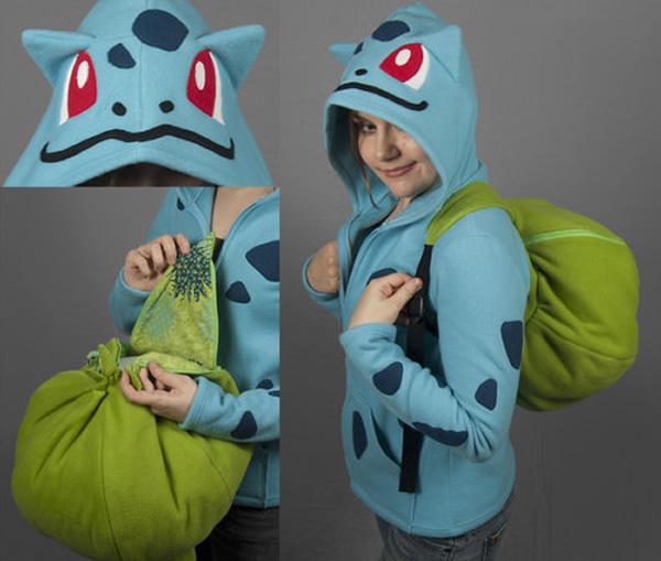 Moletons e mochilas te transformam no Squirtle e Bulbassauro!
