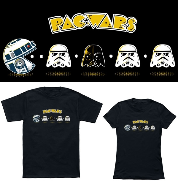 Isso é legal do dia: Camiseta Pac-Wars mistura Pac-Man com Star Wars