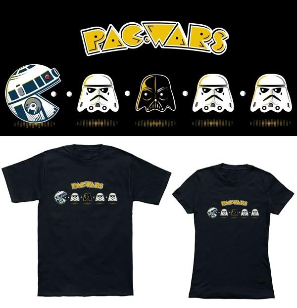 Isso é legal do dia: Camiseta Pac-Wars mistura Pac-Man com Star Wars