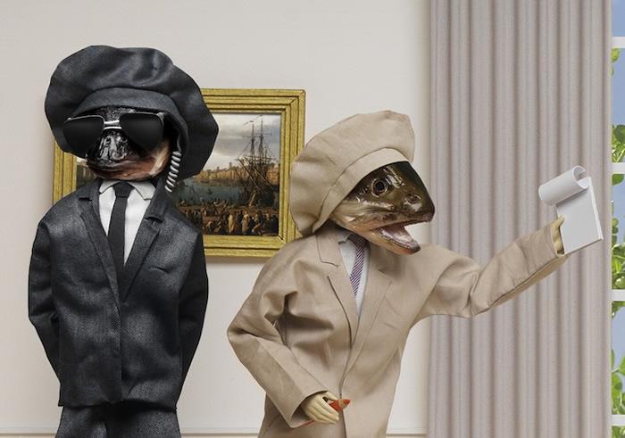 Bizarro: Artista cria cenas incrivelmente detalhadas com bonecos e cabeças de peixes