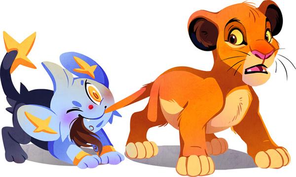 Fusão de dois mundos: Quando 10 personagens da Disney conheceram os Pokémons