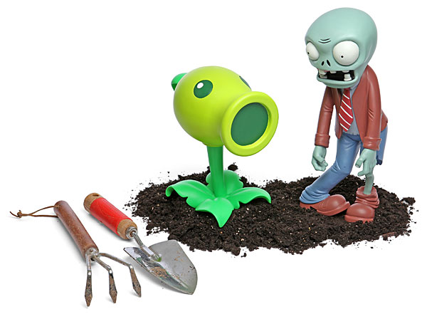 Personagens do Plants vs. Zombies para decorar o jardim dos geeks