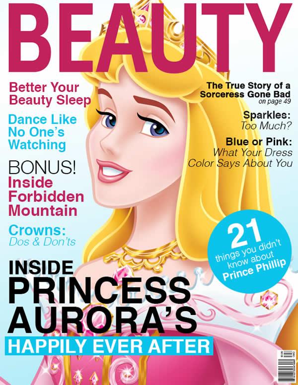 E se as princesas da Disney fossem capas de revista?