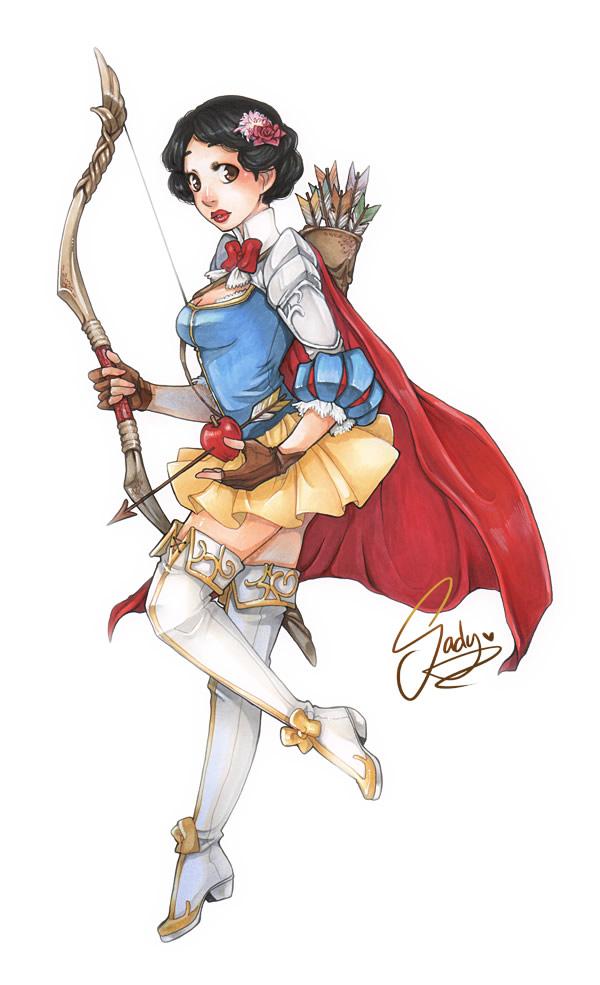Princesas e personagens da Disney como guerreiras medievais