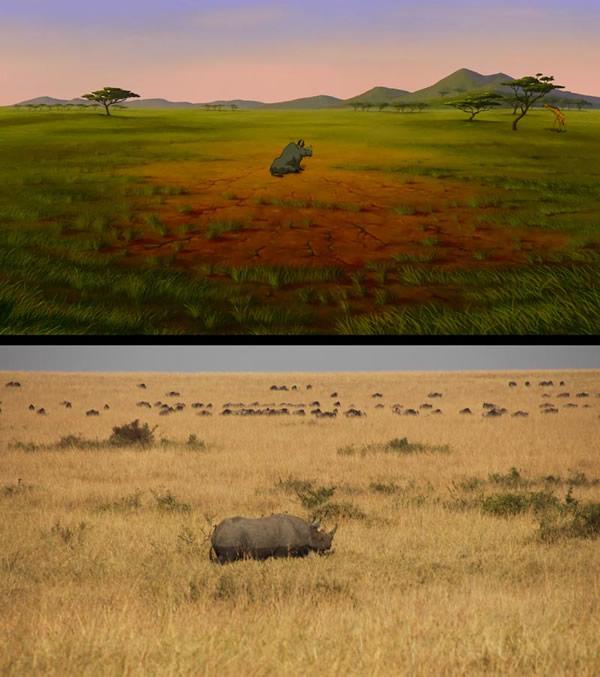 O Rei Leão na vida real: 23 imagens comparam cenas reais com cenas do desenho da Disney