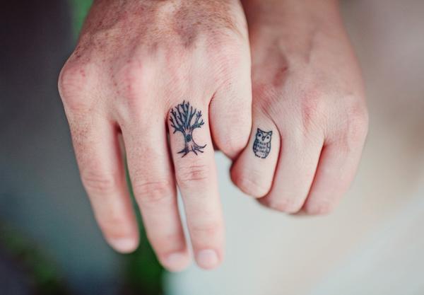 15 tatuagens superlegais simbolizando alianças de casais