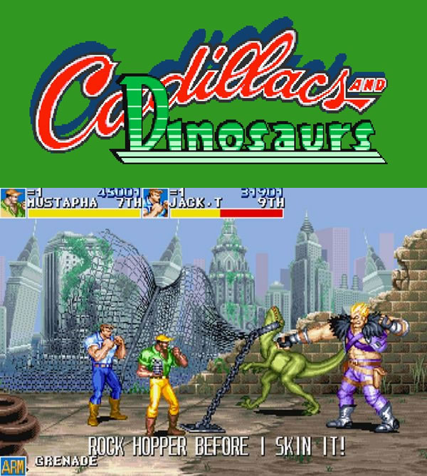games-mereciam-virar-filmes_Cadillac and Dinosaurs