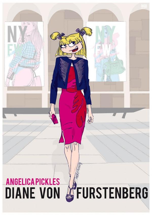 6 personagens famosos de desenhos dos anos 90 vestidos para a Semana de Moda de Nova York