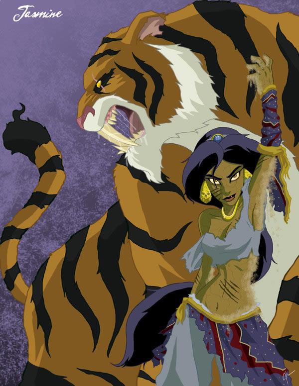 Com vocês, 19 personagens da Disney que ganharam um visual incrivelmente macabro!