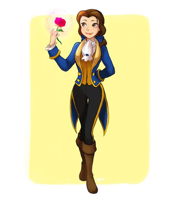 E se as princesas da Disney se vestissem como os seus príncipes?