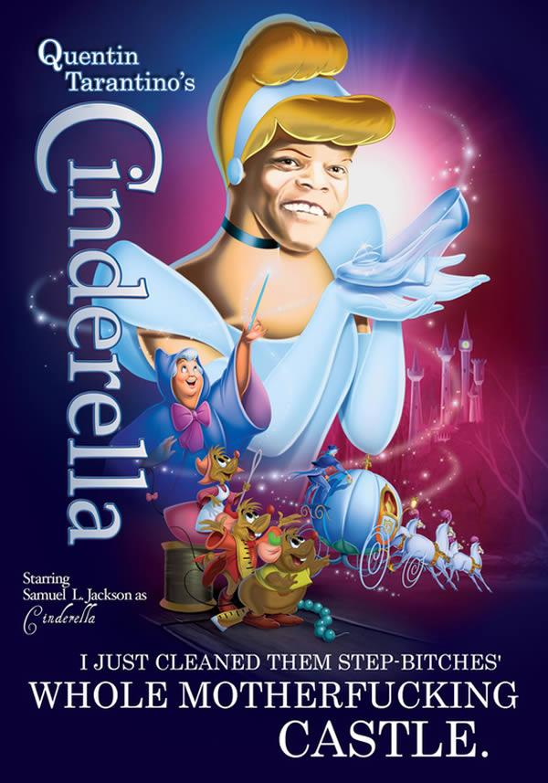 Pôsteres engraçados transformam Samuel L. Jackson em personagens famosos da Disney