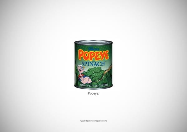 De quem é o rango? Série minimalista de imagens representa personagens famosos com comida