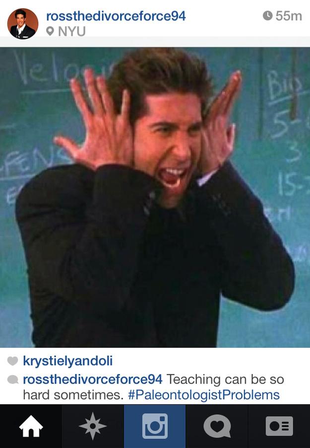 E se Ross e Joey da série Friends tivessem Instagram?