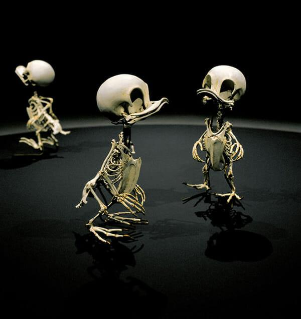 7 Esqueletos realistas de personagens famosos de desenhos animados