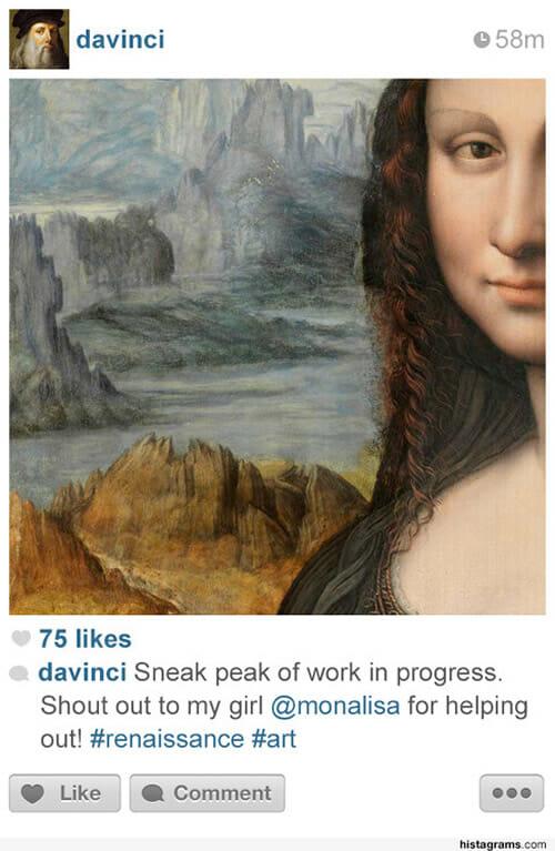 Histagrams - E se as figuras históricas e personalidades tivessem Instagram?
