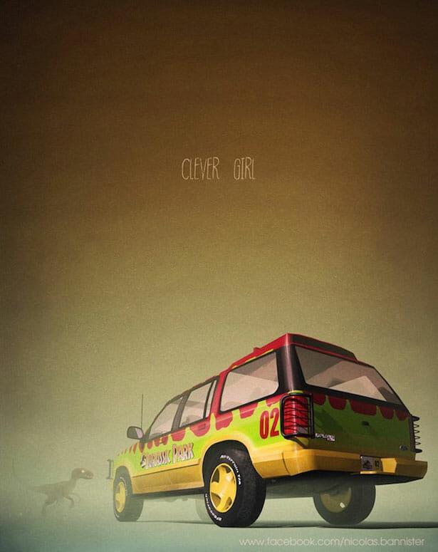 ilustracoes-carros-series-filmes_2-jurassic-park
