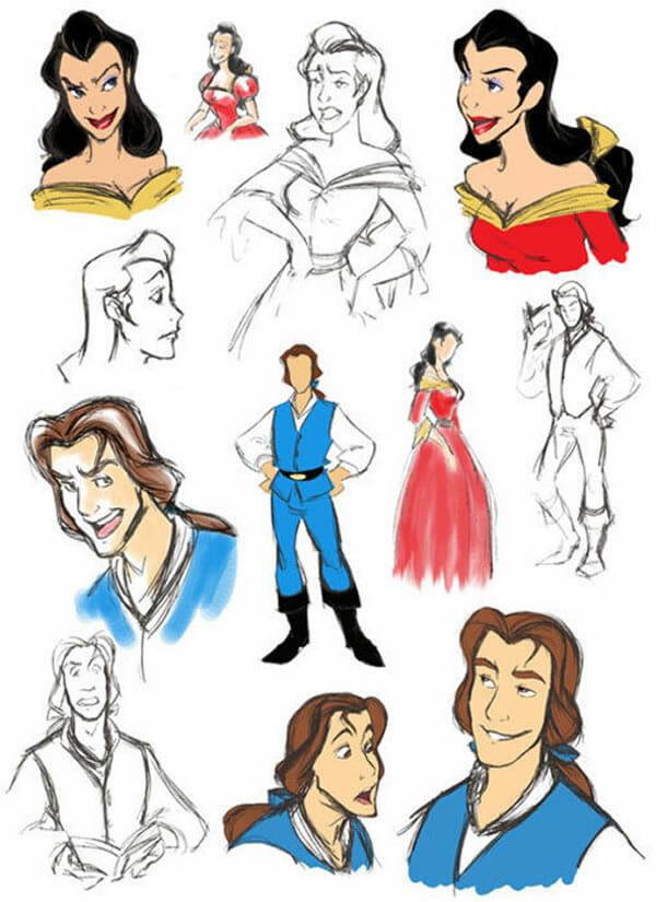 Personagens masculinos de desenhos e séries transformados em femininos e vice-versa
