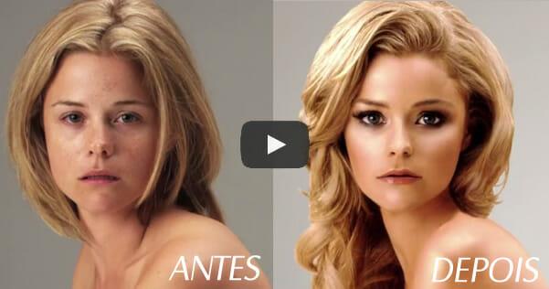 """Vídeo bizarro de 1 minuto mostra como mulheres comuns viram """"Barbies"""" graças ao Photoshop"""