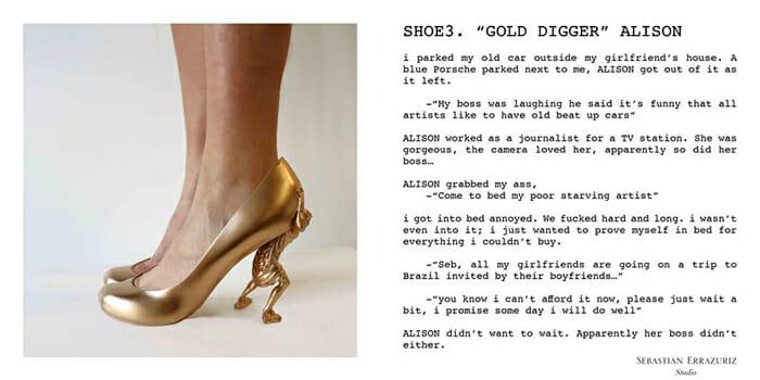 12 Shoes For 12 Lovers: Artista cria 12 sapatos incríveis baseados em seus relacionamentos com suas ex