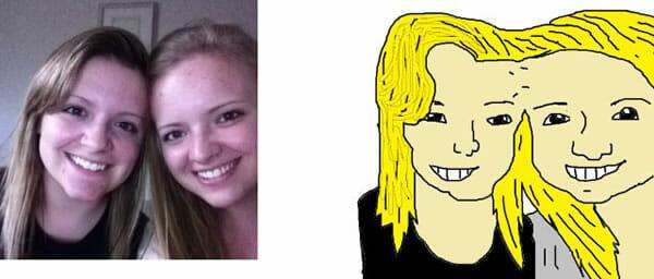 MS Paint faz retratos engraçados no Paint de seus seguidores no Twitter. Veja as imagens!