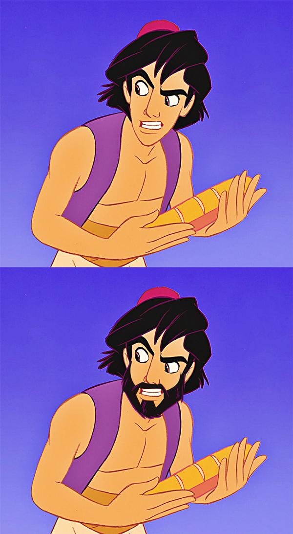 Fizeram a barba! Personagens da Disney reimaginados sem suas barbas