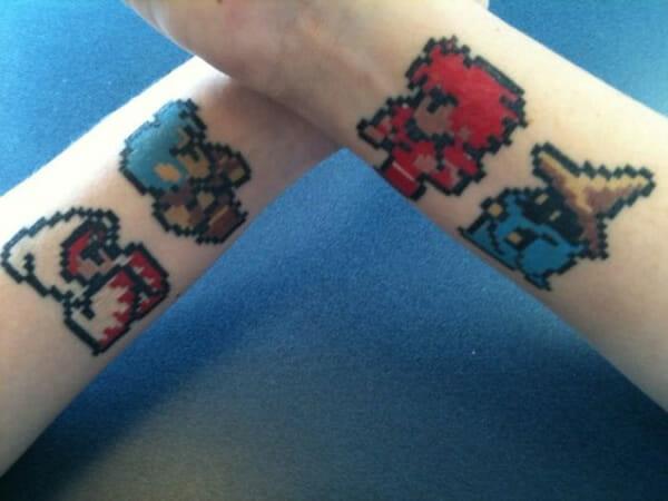 29 Tatuagens geeks e com efeitos pixelizados
