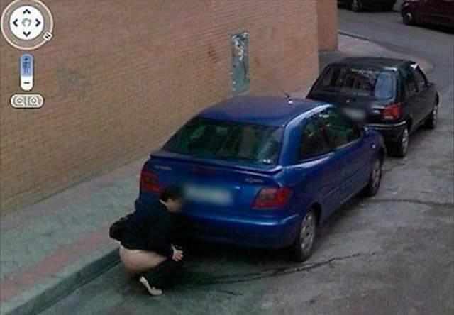20 Fotos estranhas e engraçadas capturadas pelo Google Street View