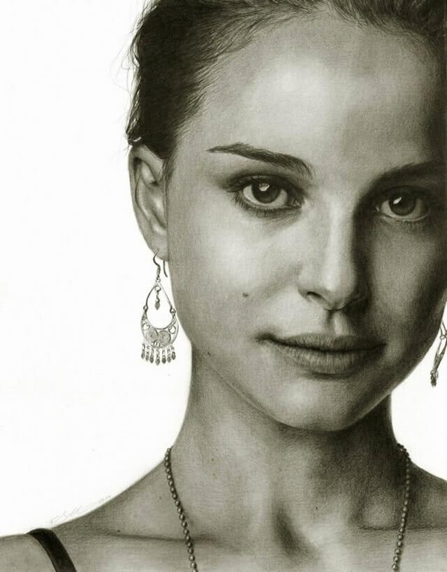 12 Retratos impressionantes de celebridades feitos a lápis e carvão