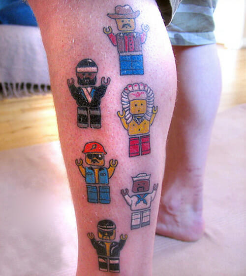 15 Tatuagens legais e engraçadas com o tema Lego
