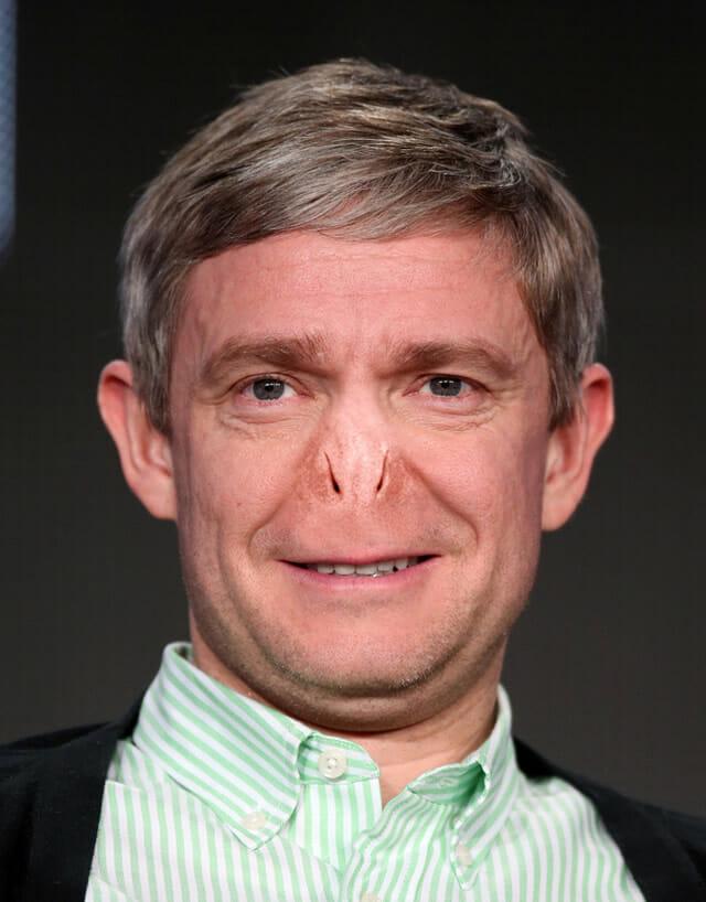 E se as celebridades tivessem o nariz do Voldemort?