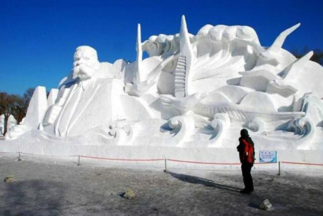 21 Esculturas sensacionais feitas de neve