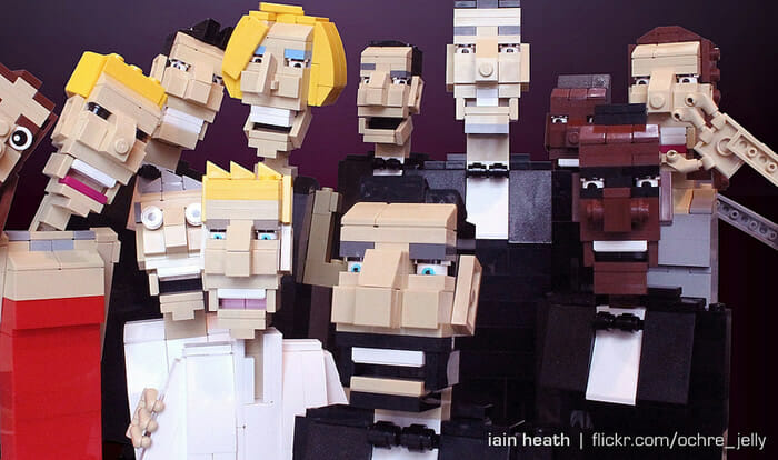 O famoso selfie do Oscar foi recriado com Lego