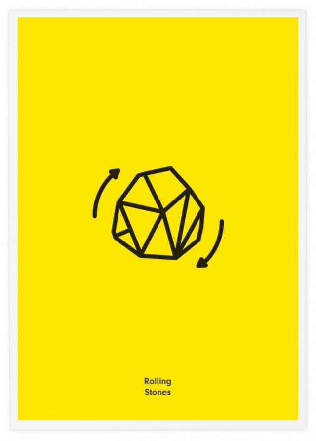 Qual é a banda? Ilustrações minimalistas e engraçadas representam 20 nomes de bandas famosas