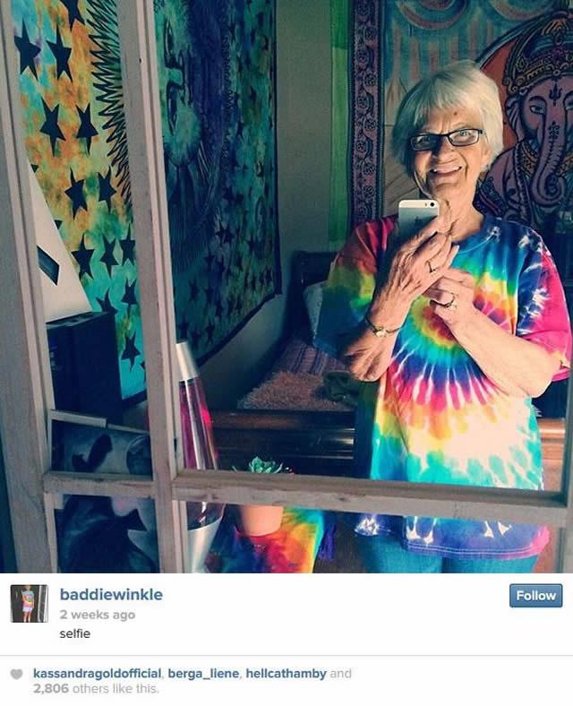 Bisavó de 86 anos faz o maior sucesso em seu Instagram e Twitter