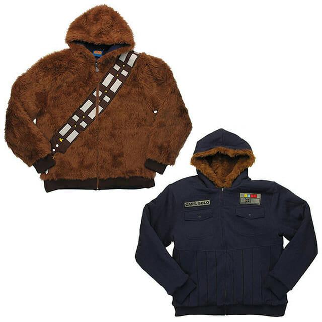 Blusa dupla face do Star Wars: De um lado Chewbacca e do outro Han Solo!