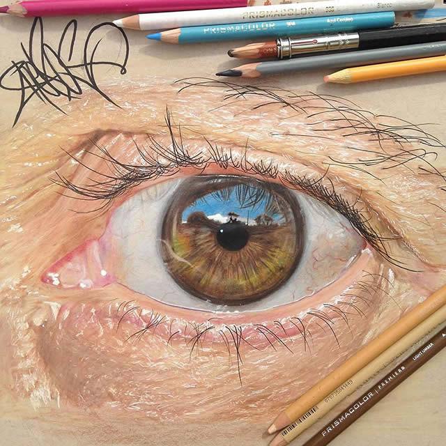 Estes olhos incrivelmente realistas são desenhos feitos com lápis coloridos. Veja as imagens!
