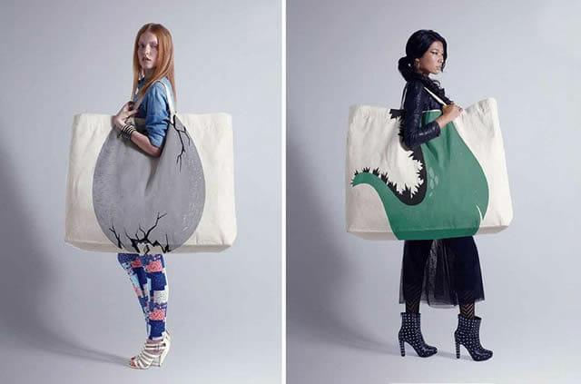 As 30 sacolas mais criativas e engraçadas de todos os tempos