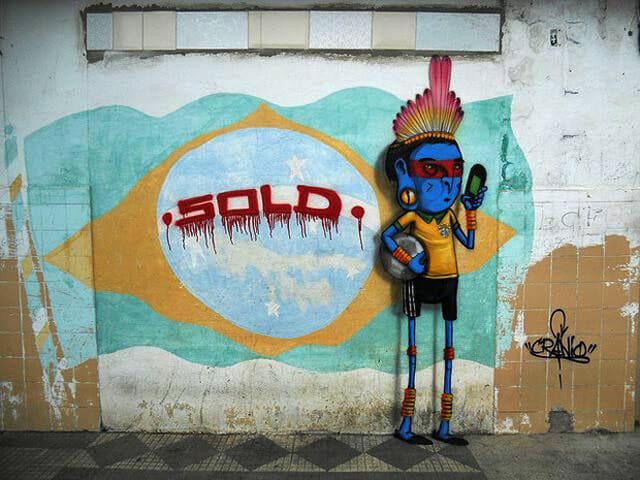 Grafites anti-Copa do Mundo nas ruas do país demonstram a insatisfação dos brasileiros