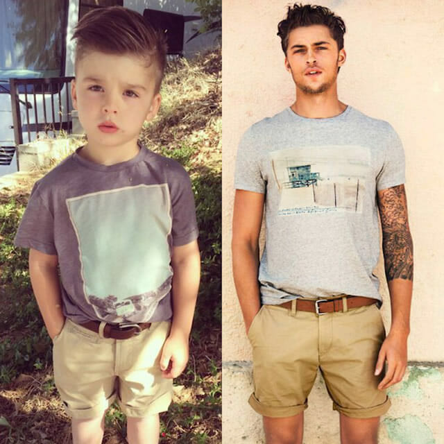 Fofura do dia: Menino de 4 anos posa para fotos imitando modelos adultos