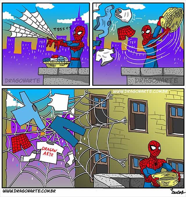 16 Tirinhas engraçadas baseadas em super-heróis famosos