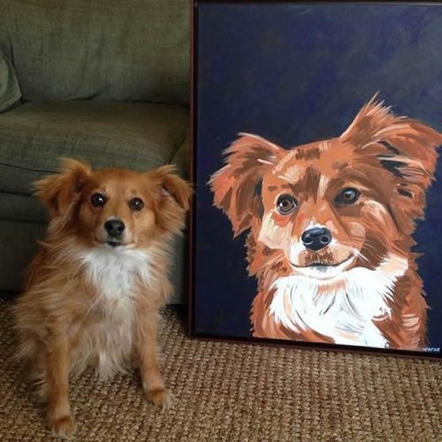14 Fotos engraçadas de animais posando ao lado de retratos de si mesmos
